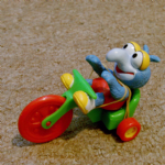 Mc Donalds 1986 Happy Meal Muppet Babies Gonzo on tricycle